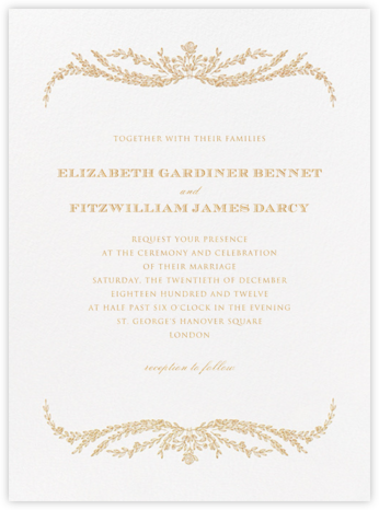 Daphne - Medium Gold - Crane & Co. - Wedding invitations