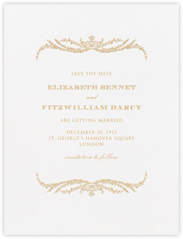 Daphne (Save The Date) - Medium Gold - Crane & Co. - Save the dates