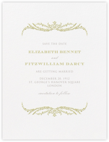 Daphne (Save The Date) - Moss Green - Crane & Co. - Save the dates