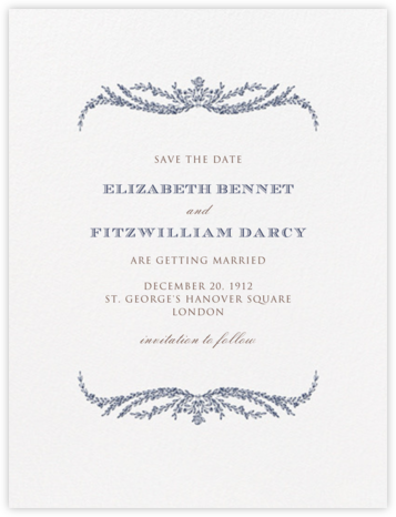 Daphne (Save The Date) - Navy Blue - Crane & Co. - Save the dates
