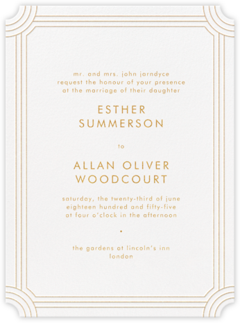 Erte - Medium Gold - Crane & Co. - Wedding Invitations