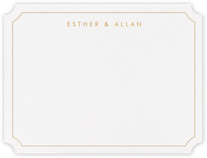 Erte (Thank You) - Medium Gold - Crane & Co. - Personalized Stationery
