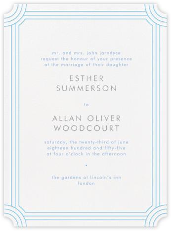 Erte - Newport Blue and Platinum - Crane & Co. - Wedding Invitations