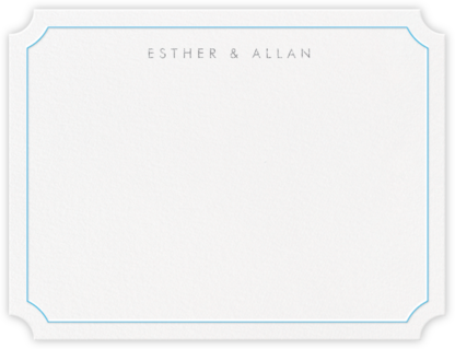 Erte (Thank You) - Newport Blue and Platinum - Crane & Co. - Personalized Stationery