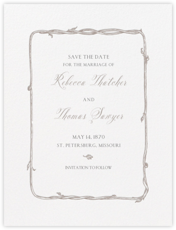 Hyde Park (Save the Date) - Taupe and Black - Crane & Co.