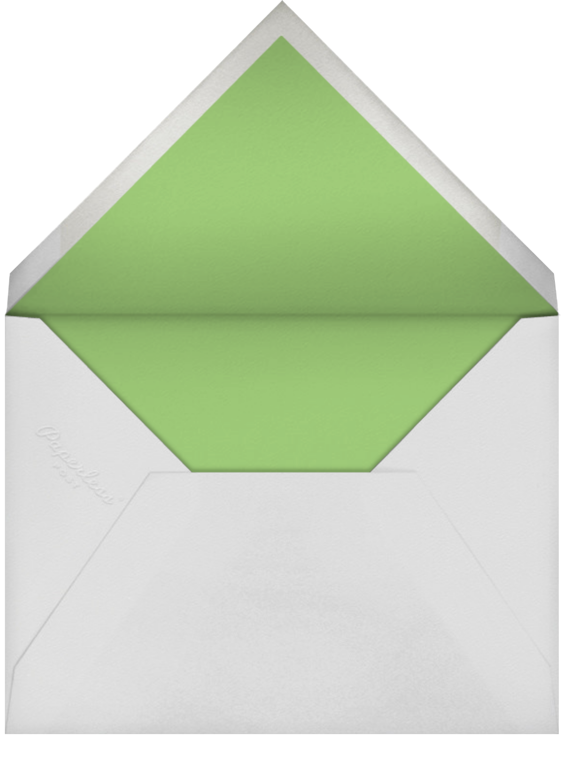 Parterre (Thank You) - Spring Green & Pewter Gray - Crane & Co. - Personalized stationery - envelope back