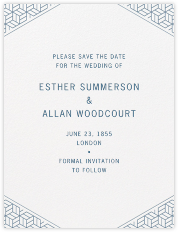 Parterre (Save the Date) - French Blue - Crane & Co. - Crane & Co stationery