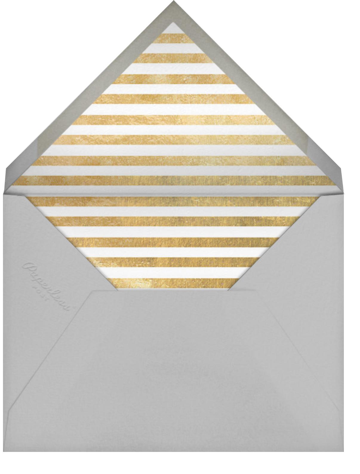 Underscore (Photo) - Gold - Paperless Post - Envelope