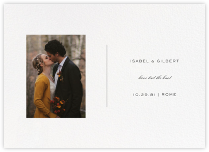 Transom (Horizontal Announcement) - Paperless Post - Wedding Announcements