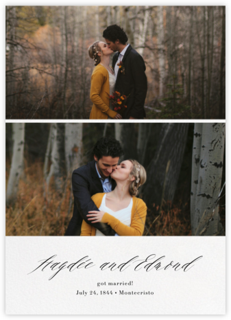 Entry - Paperless Post - Wedding Announcements