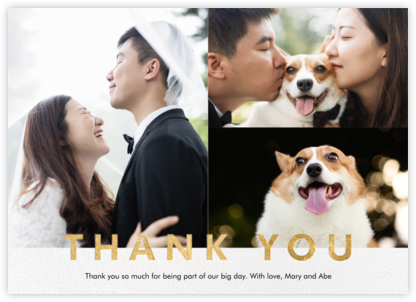 Field of Thanks Photo (Multi-Photo) - Gold - Paperless Post -