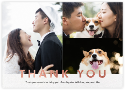 Field of Thanks Photo (Multi-Photo) - Rose Gold - Paperless Post -