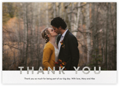 Field of Thanks Photo (Single-Sided) - Silver - Paperless Post -