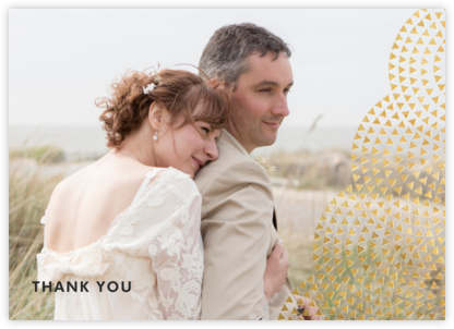 Savoy (Photo Stationery) - Gold - Paperless Post - Wedding thank you notes