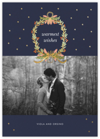 Midnight Wreath (Landscape Photo) - Navy - Rifle Paper Co. -