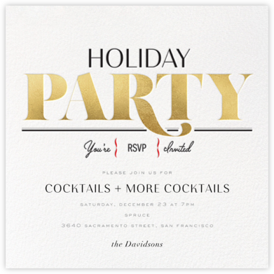 Capital (Holiday) - Gold - bluepoolroad - Holiday invitations