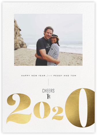 New Year Cheers - Gold - bluepoolroad - bluepoolroad invitations and cards