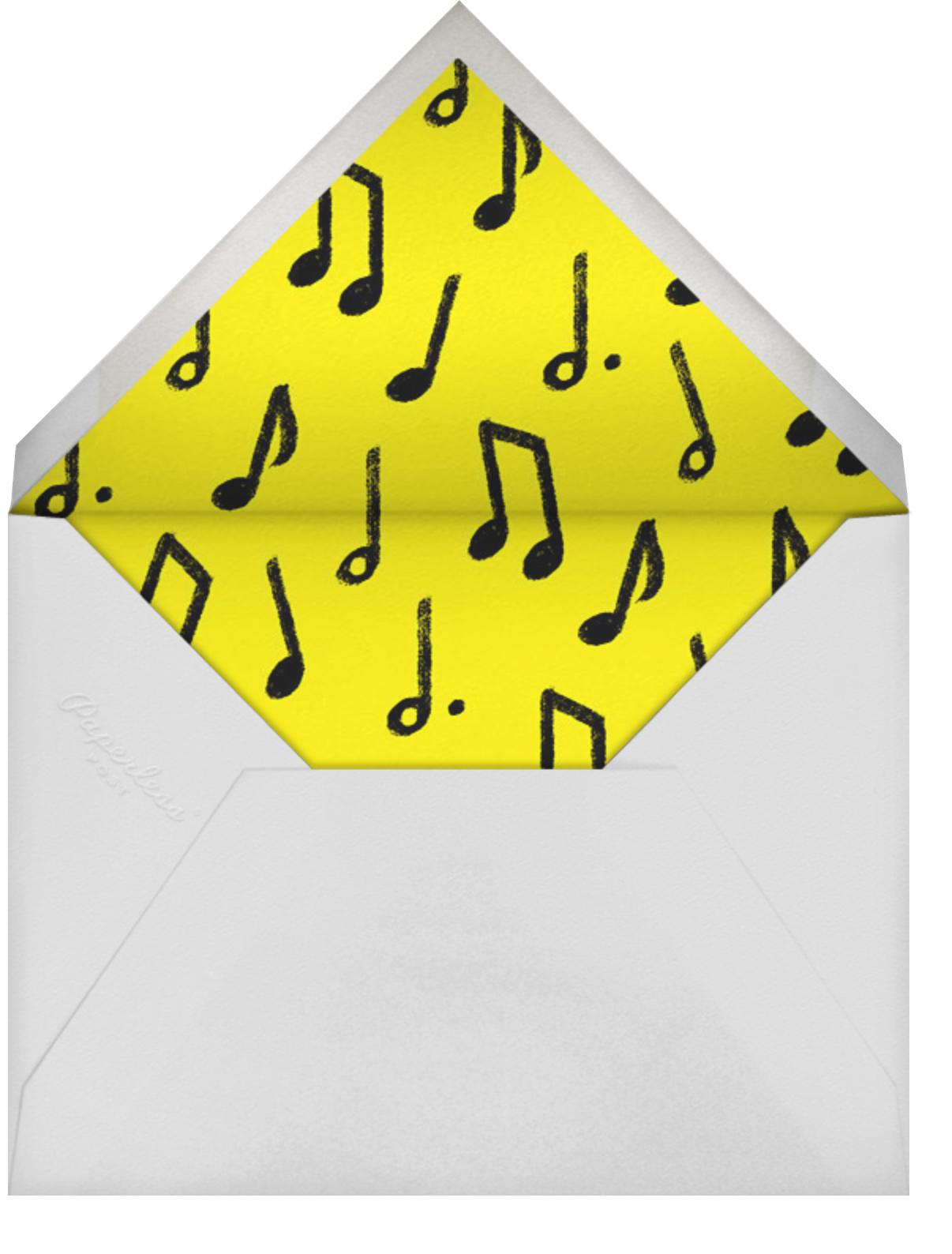 Set List - Paperless Post - Adult birthday - envelope back