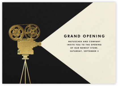 Reel to Reel - Paperless Post - Launch Party Invitations