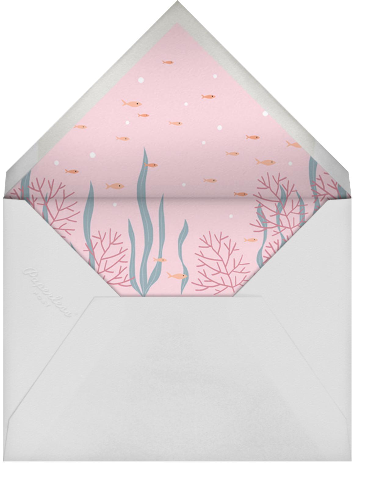 Mermaid Cove - Sherbet - Paperless Post - Mermaid birthday invitations - envelope back