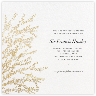 Forsythia - Gold - Paperless Post - Celebration invitations