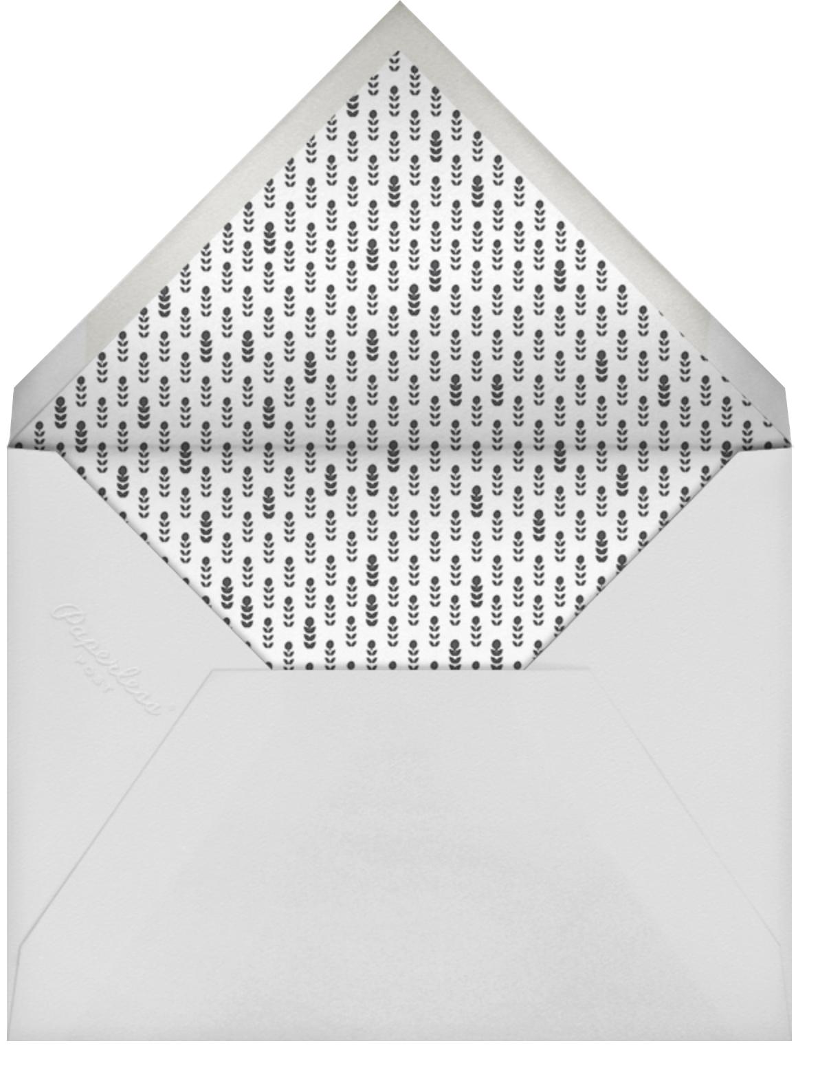 Horizontal Photo on Tall (Invitation) - Paperless Post - Memorial service - envelope back