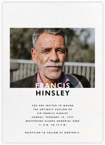 Horizontal Photo on Tall (Invitation) - Paperless Post - Memorial service invitations