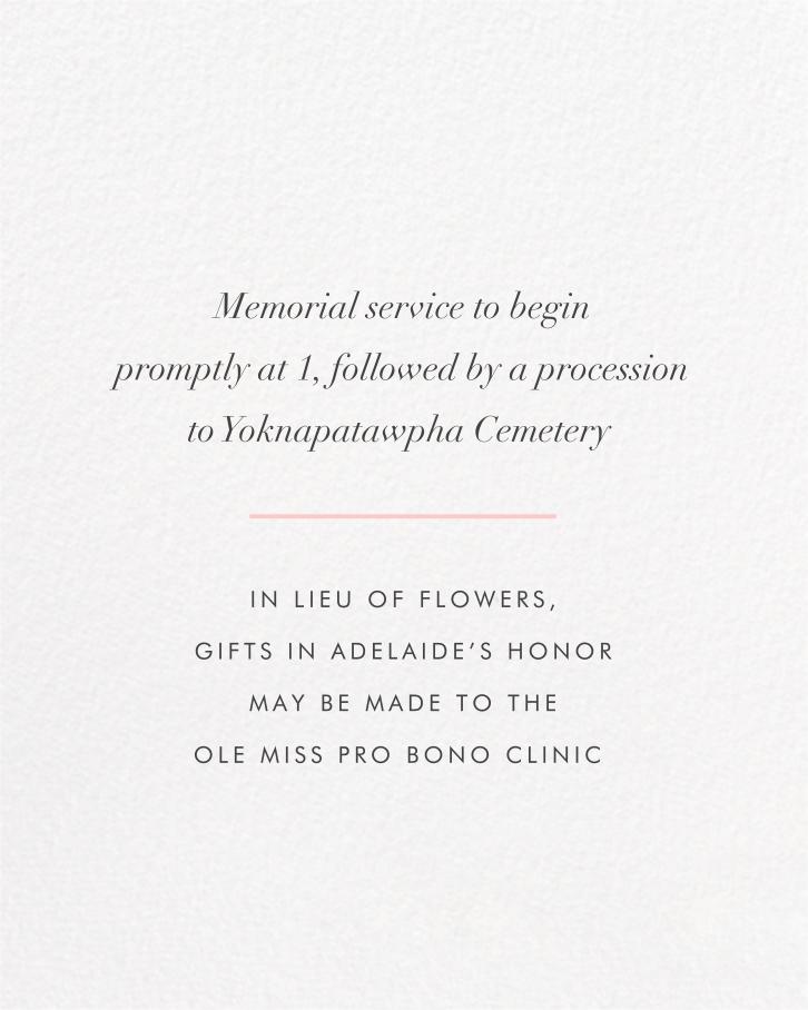 Split Square (Invitation) - Paperless Post - Memorial service - insert front