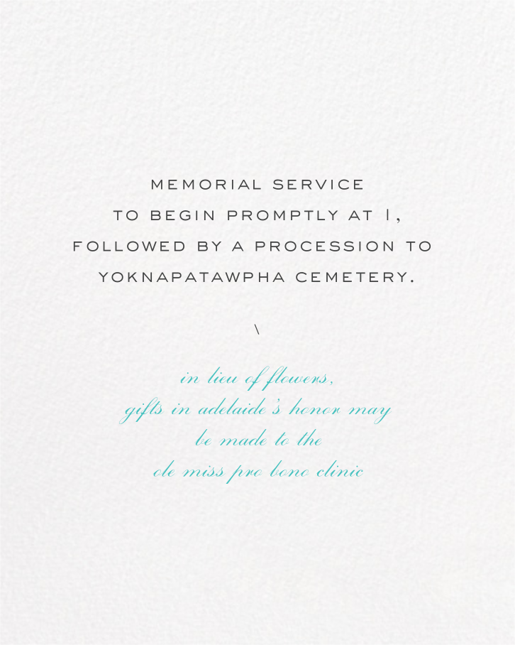 Painted Circle (Invitation) - White - Paperless Post - Memorial service - insert front