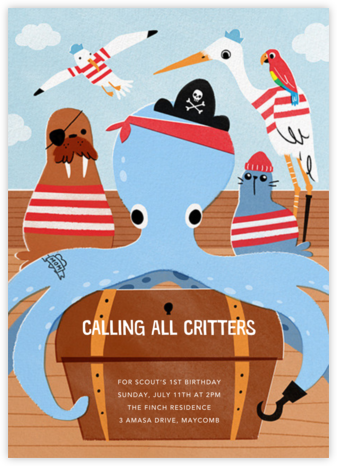 Octopiracy - Paperless Post - Online Kids' Birthday Invitations