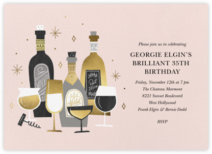 Wine Tour - Paperless Post - Adult Birthday Invitations