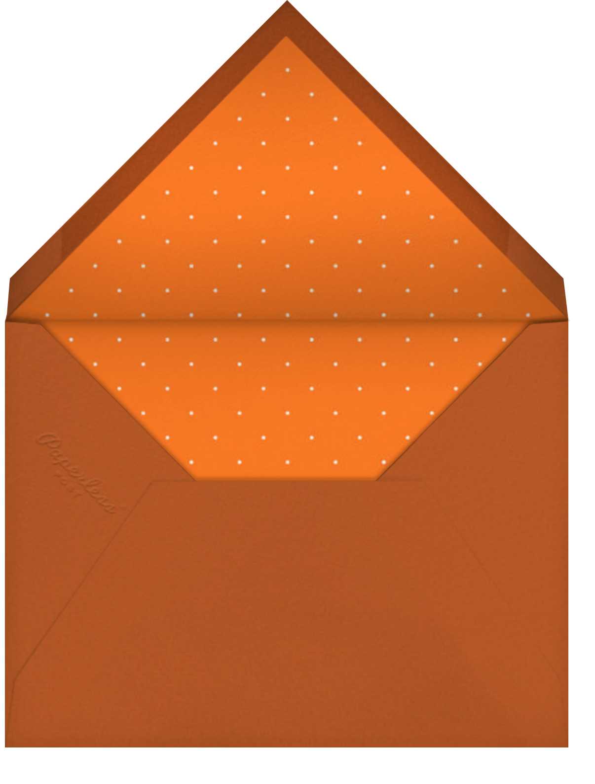 Food Coma - Paperless Post - Thanksgiving - envelope back