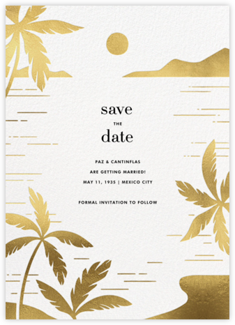 Moon Lagoon - Paperless Post - Save the dates