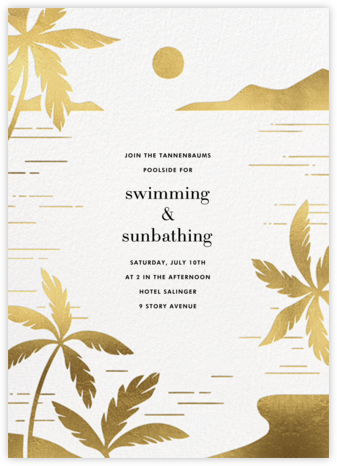 Moon Lagoon - Paperless Post - Summer Entertaining Invitations