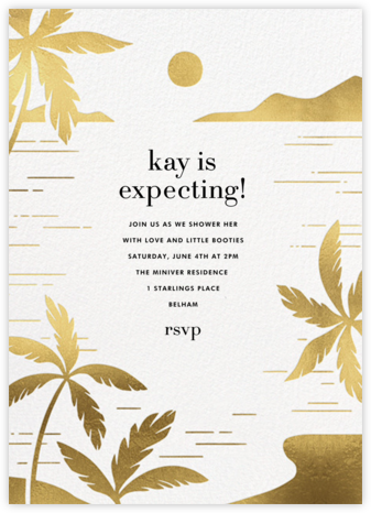 Moon Lagoon - Paperless Post - Baby Shower Invitations
