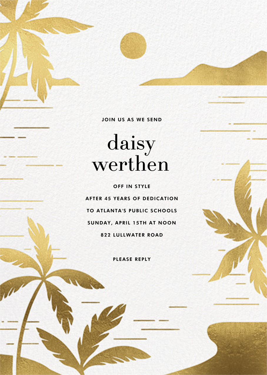 Moon Lagoon - Paperless Post - Retirement invitations, farewell invitations