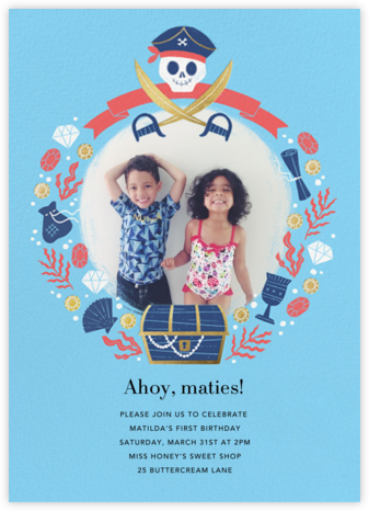 Pirate Treasure - Paperless Post - Online Kids' Birthday Invitations
