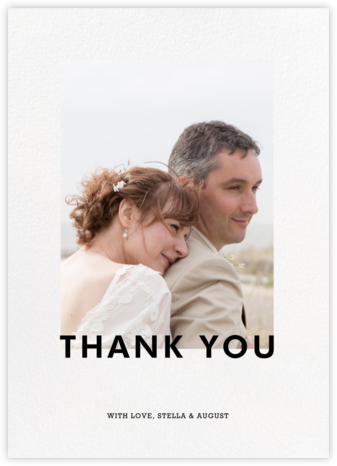 Vertical Overlap - Paperless Post - Thank you cards