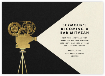 Reel to Reel - Paperless Post - Bat and Bar Mitzvah Invitations