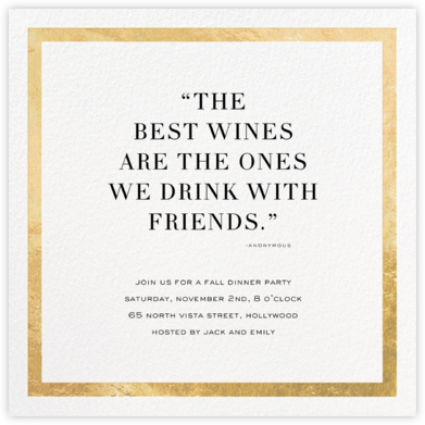 Lustrous Band (Quote) - Gold - Sugar Paper - Invitations for Entertaining