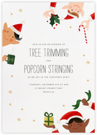 Little Elves - Multi - Paperless Post - Invitations