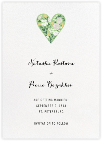 Heart Intaglio - Multicolor - Paperless Post - Save the dates