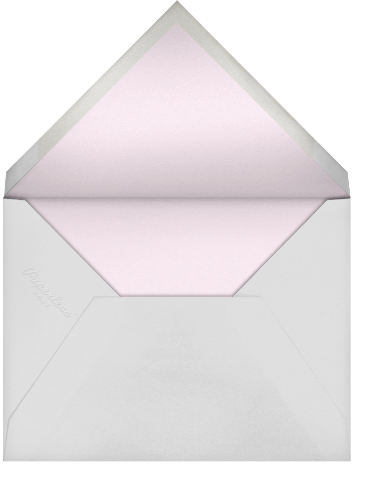 Heart Intaglio - Multicolor - Paperless Post - Save the date - envelope back