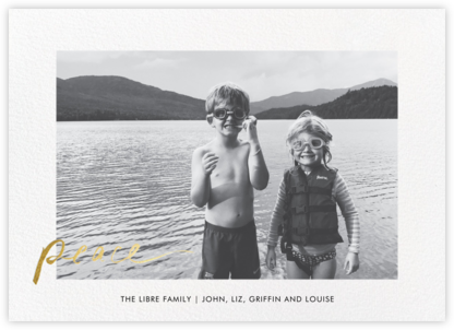 Peaceful Greetings - Gold - Linda and Harriett - New Year Cards