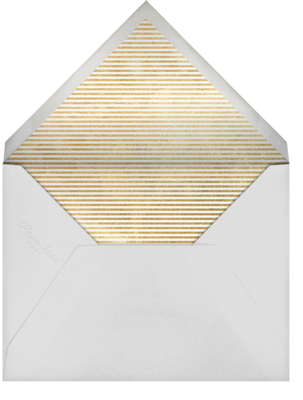Peaceful Greetings - Gold - Linda and Harriett - Holiday cards - envelope back