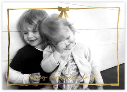 Christmas Bow Frame (Horizontal) - Gold - Linda and Harriett -