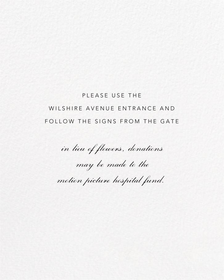 Josephine Baker - White/Gold - Paperless Post - Memorial service - insert front