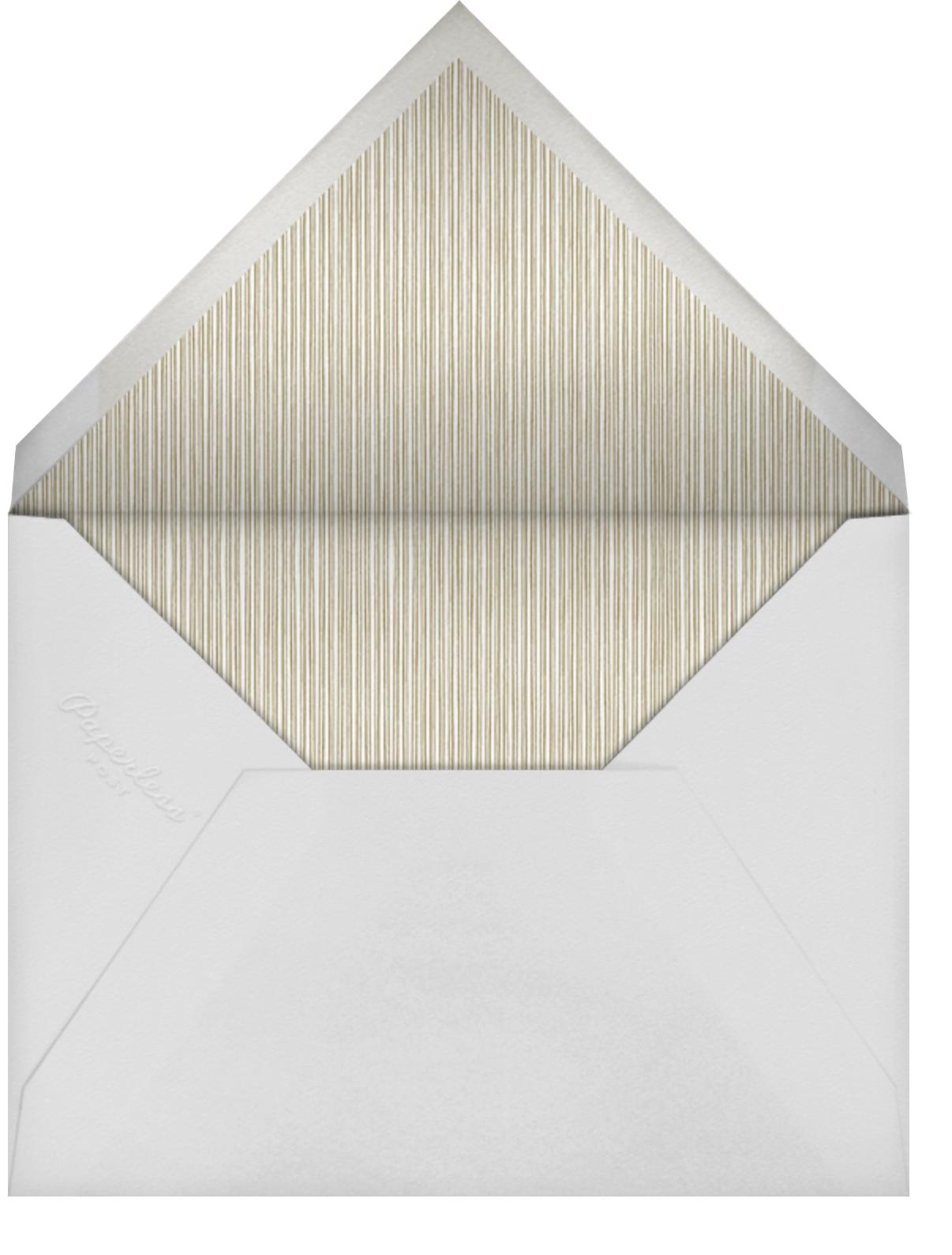 Regency (Tall) - Black - Paperless Post - Memorial service - envelope back