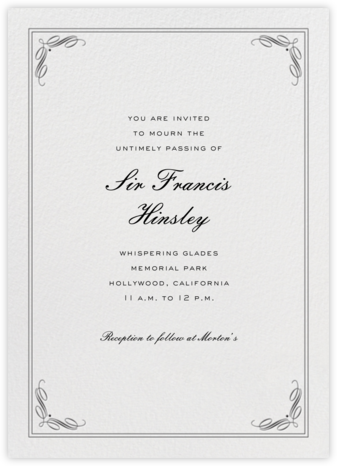 Regency (Tall) - Black - Paperless Post - Online Party Invitations