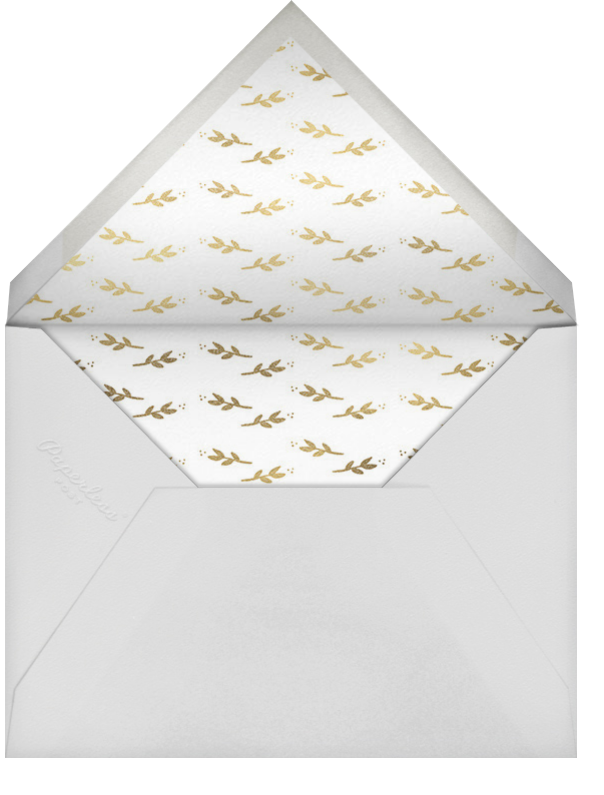 Louisa II - White - Paperless Post - Memorial service - envelope back
